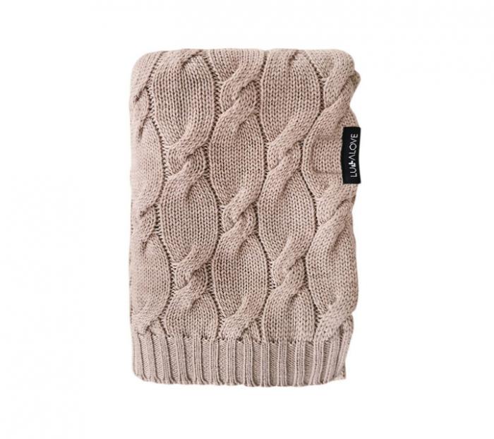 Patura lana Merinos Lullalove 80x100cm - Beige [0]