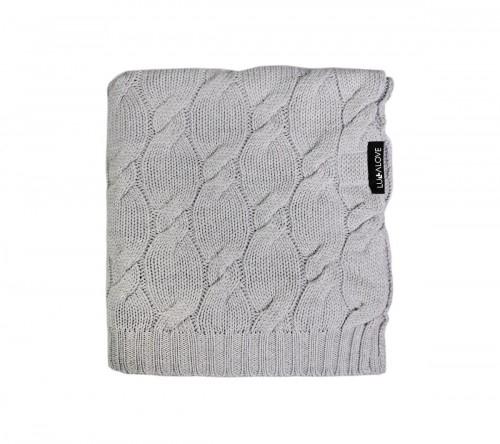 Patura lana Merinos Lullalove 80x100cm - Grey 0