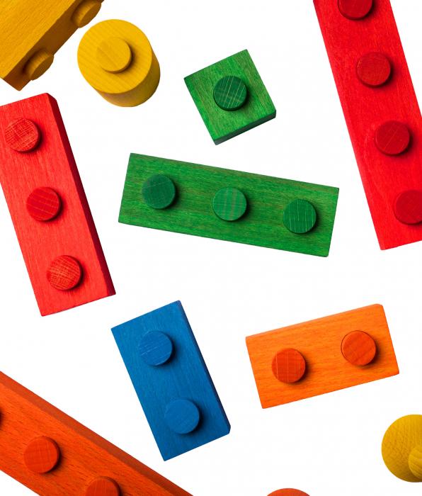 Puzzle constructie Lemn Colorat Cubito [1]