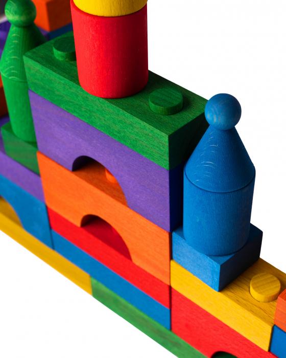 Puzzle constructie Lemn Colorat Cubito [2]