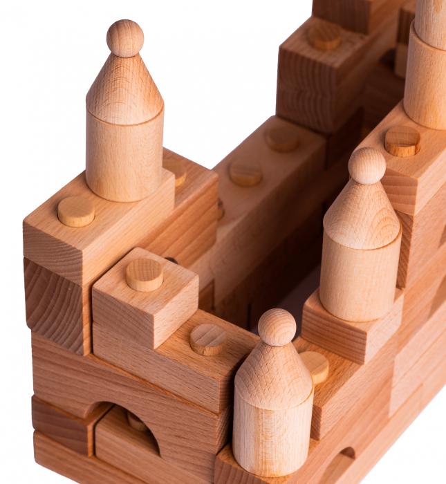 Puzzle constructie Lemn Natur Cubito [1]