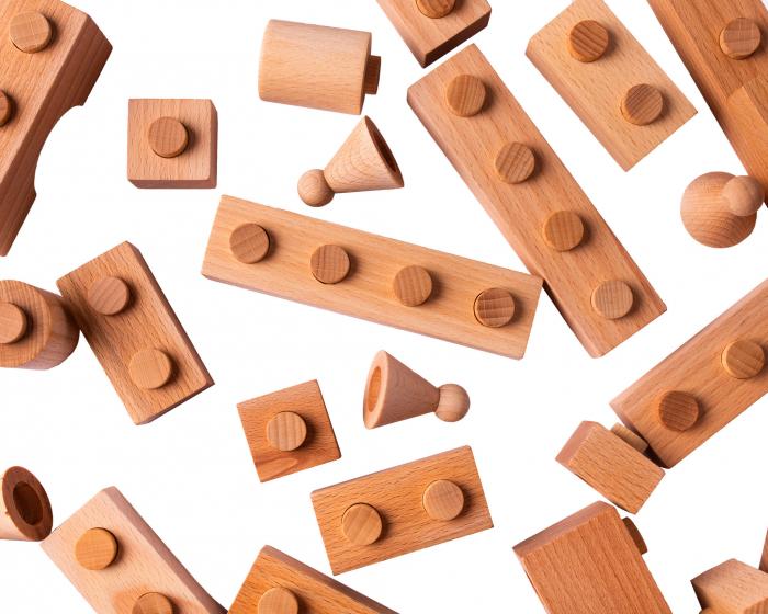 Puzzle constructie Lemn Natur Cubito [3]