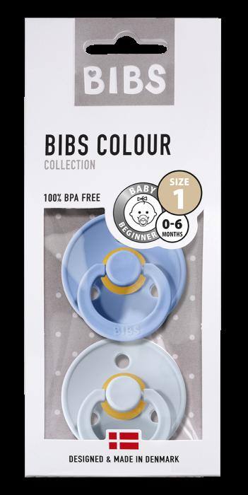 2 Pack Bibs Colour Sky Blue/ Baby Blue Size 1 (0-6 luni) 0