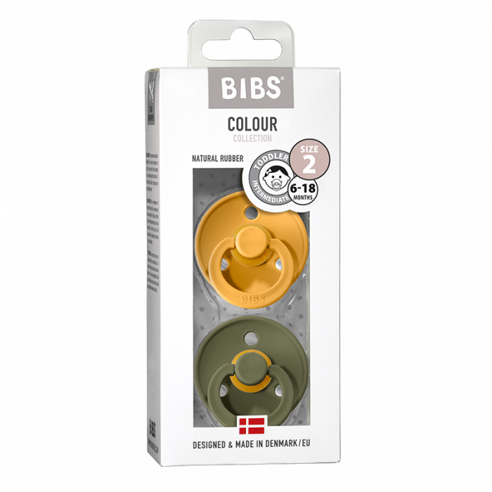 2 Pack Bibs Colour Honey Bee / Olive Size 2 (6-18 luni) 0