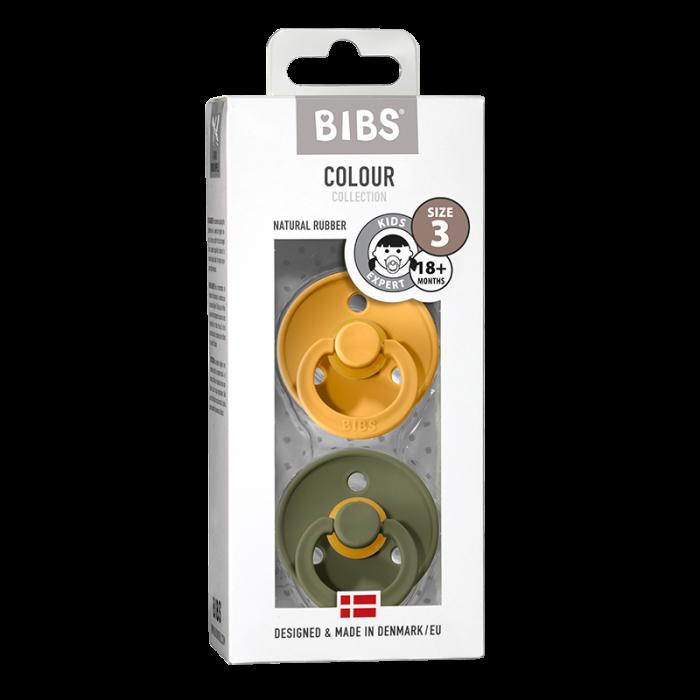 2 Pack Bibs Colour Honey Bee / Olive Size 3 (18 +) - Bibs Denmark 0