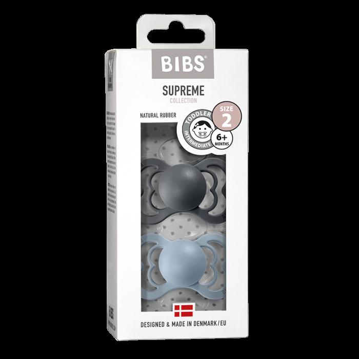 2 Pack Bibs Supreme Iron / Baby Blue Size 2 (6-18 luni) 0