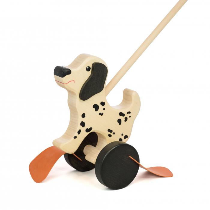Jucarie din lemn de impins - Model Dalmatian 1