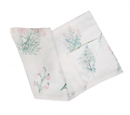 Muselina bambus - Pink Herbs 1
