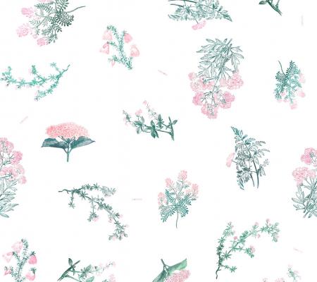 Muselina bambus - Pink Herbs 3