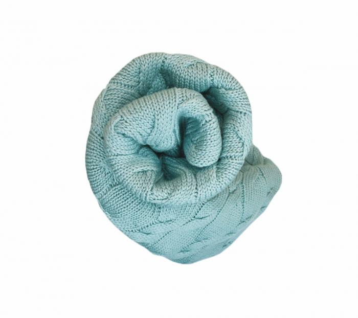 Patura lana Merinos Lullalove 80x100cm - Salvie [4]
