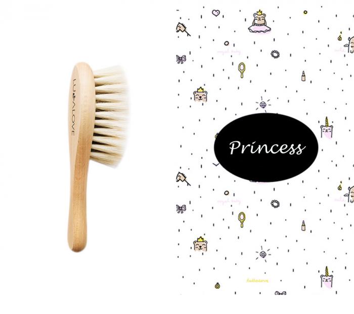 Perie par natural de capra + muselina CADOU - Princess 0