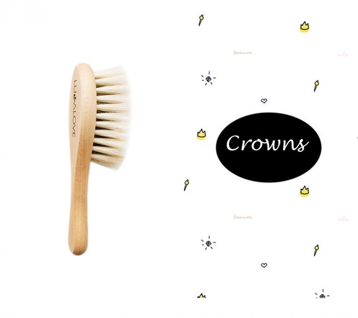 Perie par natural de capra + muselina Crowns CADOU 0