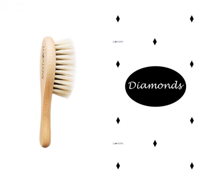 Perie par natural de capra + muselina Diamonds CADOU 0