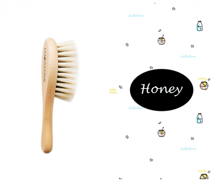 Perie par natural de capra + muselina Honey CADOU 0