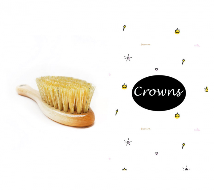 Perie par natural + muselina Crowns CADOU 0