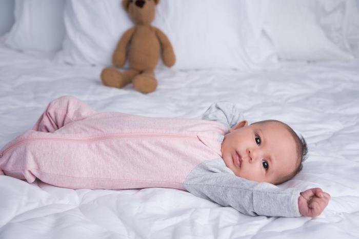 Salopeta bumbac organic Pink by Juddlies 3-6 luni 2