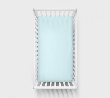 Cearsaf cu elastic din bumbac, 140x70cm Albastru0