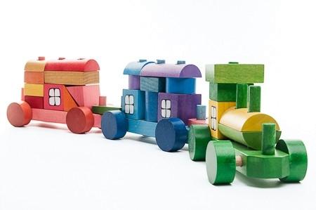 Trenulet din piese colorate 52 cm MINI1