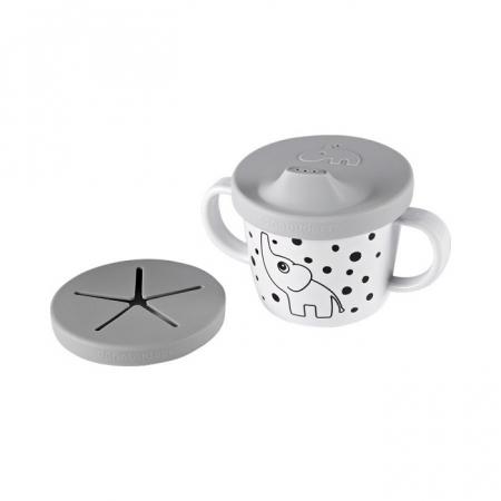 Ceasca de baut & gustari Grey Dots [0]