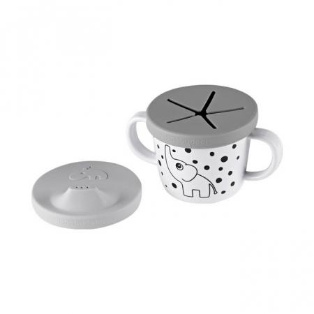 Ceasca de baut & gustari Grey Dots [1]