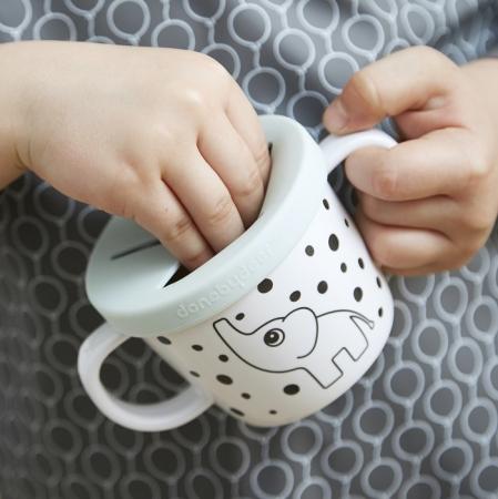 Ceasca de baut & gustari Grey Dots [3]