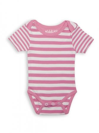 Body Pink Striped by Juddlies 0-3 luni [3]