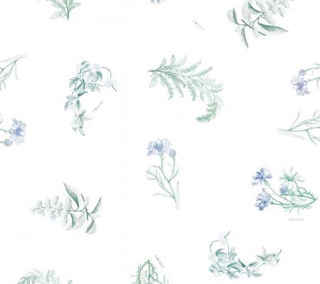 Husa pilota si fata de perna - Blue Herbs [1]