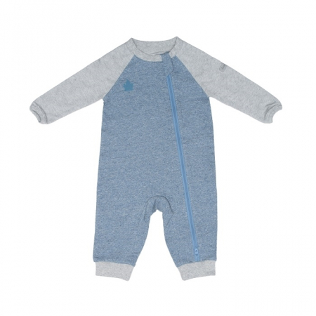 Salopeta bumbac organic Blue Denim  by Juddlies NB (0-1luni)1