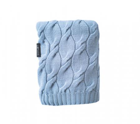Patura lana Merinos Lullalove 80x100cm - Baby Blue0
