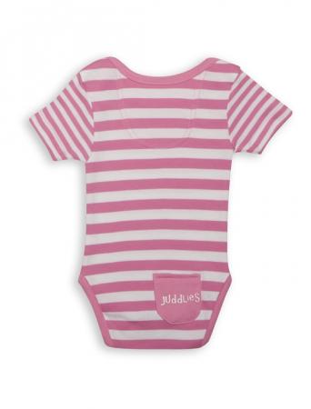 Body Pink Striped by Juddlies 0-3 luni [2]