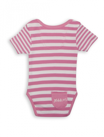 Body Pink Striped by Juddlies 3-6 luni1