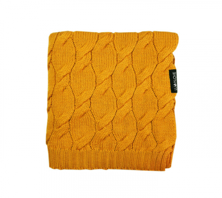 Patura lana Merinos Lullalove 80x100cm - Mango [0]