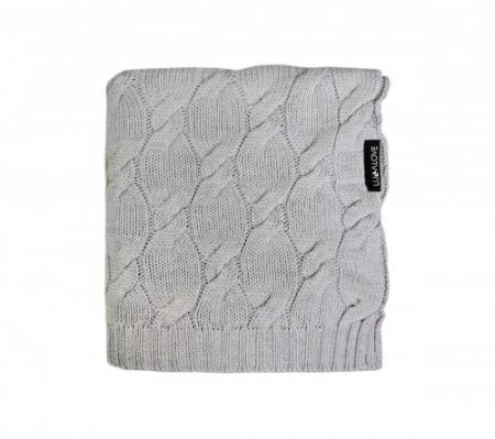 Patura lana Merinos Lullalove 80x100cm - Grey0