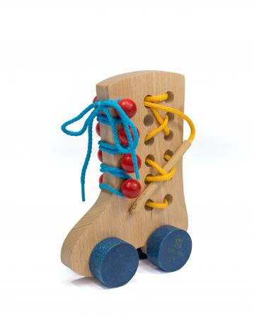 Pantof colorat, cu sireturi0
