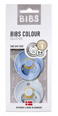 2 Pack Bibs Colour Sky Blue/ Baby Blue Size 1 (0-6 luni)0