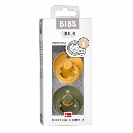 2 Pack Bibs Colour Honey Bee / Olive Size 1 (0-6 luni) [0]