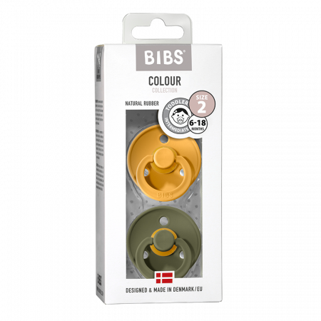 2 Pack Bibs Colour Honey Bee / Olive Size 2 (6-18 luni)0