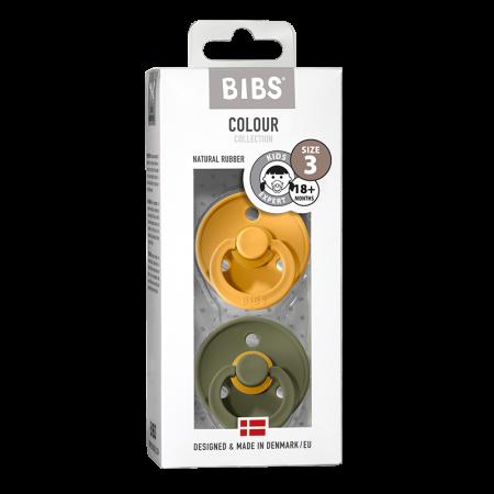 2 Pack Bibs Colour Honey Bee / Olive Size 3 (18 +) - Bibs Denmark0