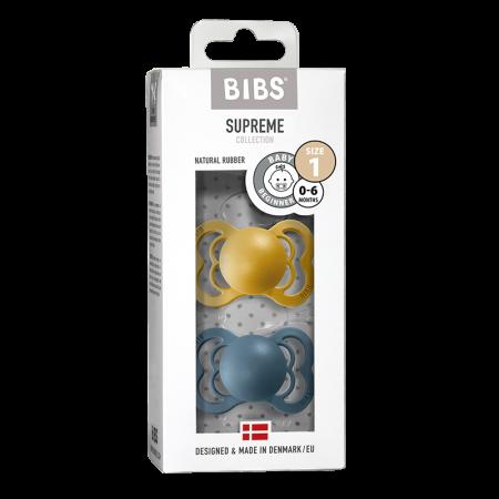 2 Pack Bibs Supreme Mustar / Petrol Size 1 (0-6 luni)0