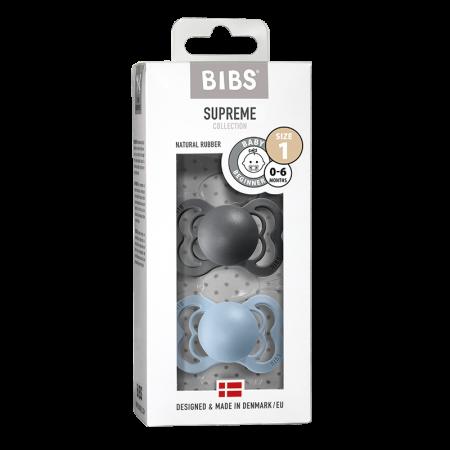 2 Pack Bibs Supreme Iron / Baby Blue Size 1 (0-6 luni) [0]
