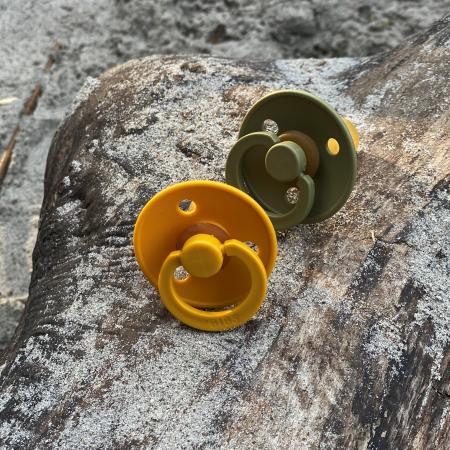 2 Pack Bibs Colour Honey Bee / Olive Size 3 (18 +) - Bibs Denmark1