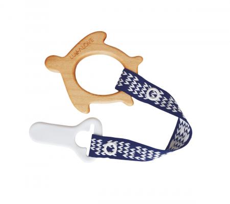 Jucarie dentitie + clips, lemn de artar , Mamari [3]