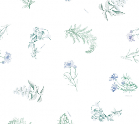 Muselina bambus - Blue Herbs [1]