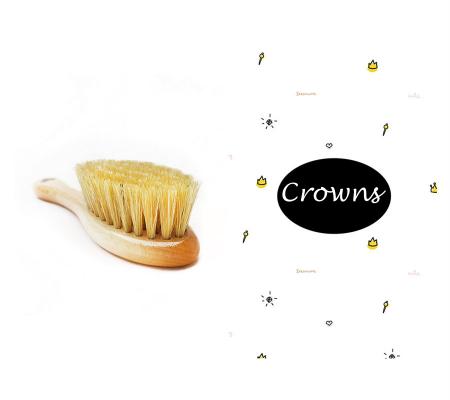 Perie par natural + muselina Crowns CADOU0