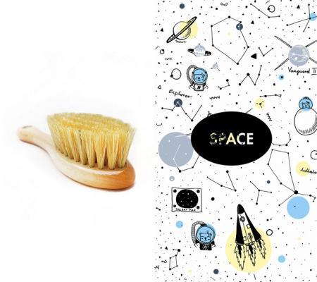 Perie par natural + muselina Space CADOU0