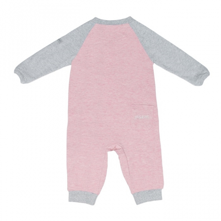 Salopeta bumbac organic Pink by Juddlies 3-6 luni1