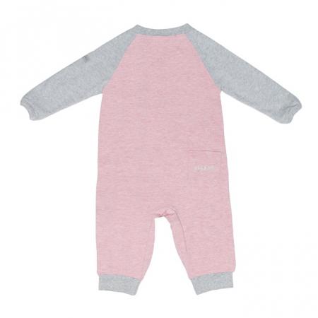 Salopeta bumbac organic Pink by Juddlies 6-12 luni4