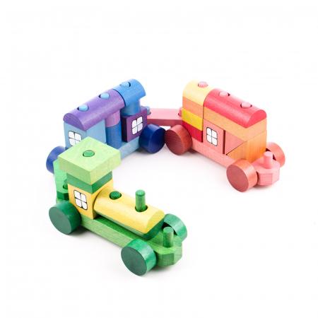 Trenulet din piese colorate1