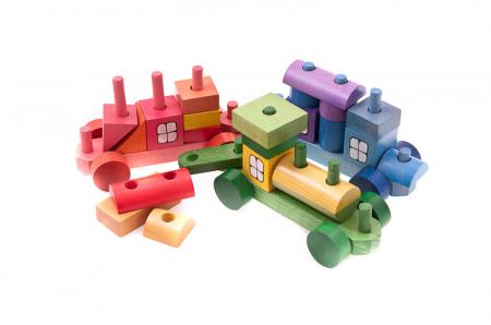 Trenulet din piese colorate4