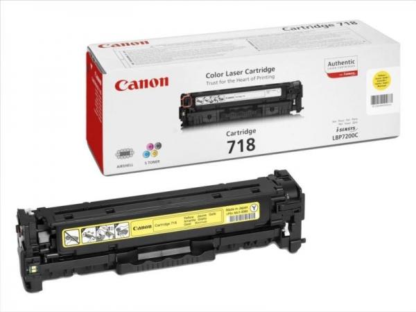 Cartus toner Canon Yellow CRG-718Y 0